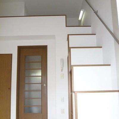 収納にもなっている階段ロフトでのぼりおりもラクラク(*'▽')お家賃に大注目です!!