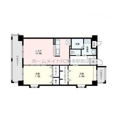 上層階・角部屋。高温差湯・カラリ床。
