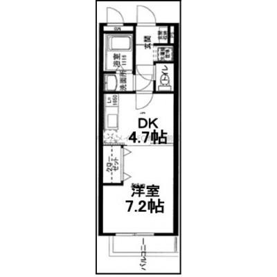 30平米超えの広いお部屋。独立洗面所有。