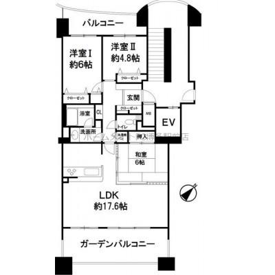 イオンまで徒歩圏内の分譲賃貸マンション。