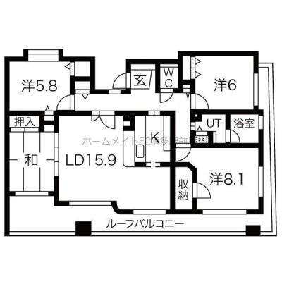 閑静な住宅街 敷地内駐車場有り 最上階 角部屋